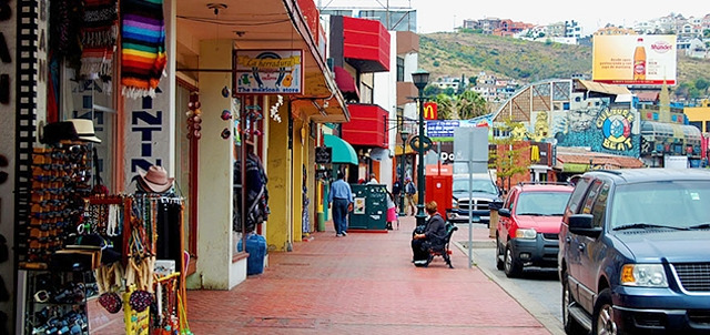 Calle Primera (traditional tourist zone of Ensenada)