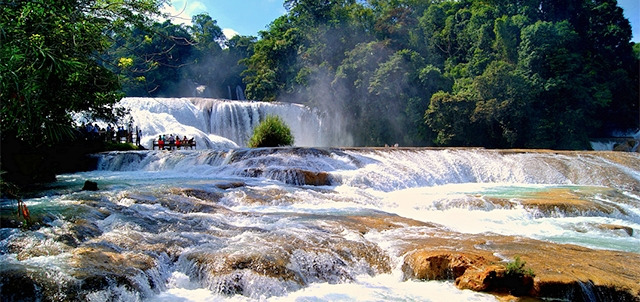 The Agua Azul Waterfalls, Palenque