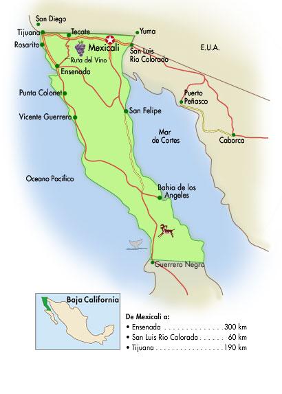 Mapa De Baja California