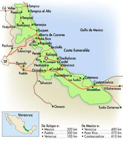 Mapa de Veracruz, Mexico
