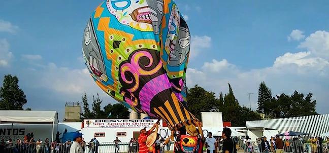 Festival de Globos de Cantoya, uno de los festivales en México durante noviembre