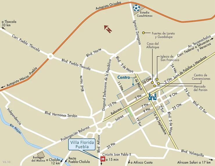 villa florida mapa