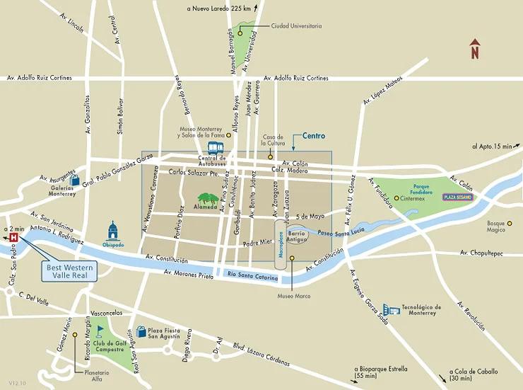 Mapa De Monterrey Mexico