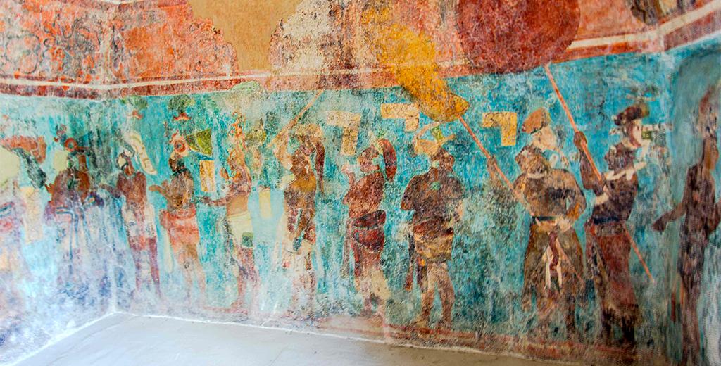 Murales de Bonampak en Chiapas, Zona Arqueológica